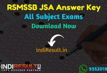 RSMSSB JSA Answer Key 2019 – Rajasthan Subordinate and Ministerial Services Selection Board has released official JSA answer key on official website rsmssb.rajasthan.gov.in for the Junior Scientific Assistant exam conducted between 14 To 22 September 2019. Download All Subject Answer Key from the link uploaded below sections.