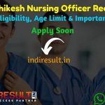 AIIMS Rishikesh Nursing Officer Recruitment 2019 - Check AIIMS Rishikesh Nursing Officer Notification, Eligibility Criteria, Age Limit, Educational Qualification and selection process. All India Institute of Medical Sciences AIIMS invited online application to fill 372 vacancy of Nursing Officer posts. This is a great opportunity for the applicants who are searching for Govt Jobs in AIIMS.