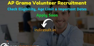 AP Grama Volunteer Recruitment 2019 - Check AP Grama Volunteer 2nd Notification, Eligibility Criteria, Age Limit, Educational Qualification and selection process. Andhra Pradesh Panchayat Raj & Rural Development Dept is going to release online application to fill 19170 vacancies of Grama Volunteer posts.