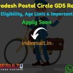 Andhra Pradesh Postal Circle GDS Recruitment 2019 - Check Andhra Pradesh GDS Notification, Eligibility Criteria, Age Limit, Educational Qualification and Selection process. Postal Circle Andhra Pradesh invites online application to fill 2707 vacancies of Gramin Dak Sevak Posts.