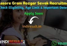 Balasore Gram Rozgar Sevak Recruitment 2019 - Check Zilla Parishad Balasore GRS Notification Eligibility Criteria, Age Limit, Educational Qualification and selection process. ZP Balasore invites online application to fill 145 vacancies to the post of Gram Rozgar Sevak posts.