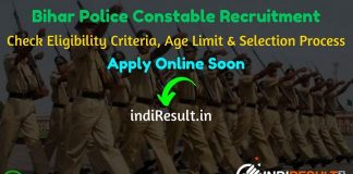 Bihar Police Constable Recruitment 2019 – Check Bihar Police, BMP, SIRB & BSISB Eligibility Criteria, Age Limit, Educational Qualification and selection process. CSBC Bihar Police invites online application to fill 11880 vacancies to the post of Constable posts.