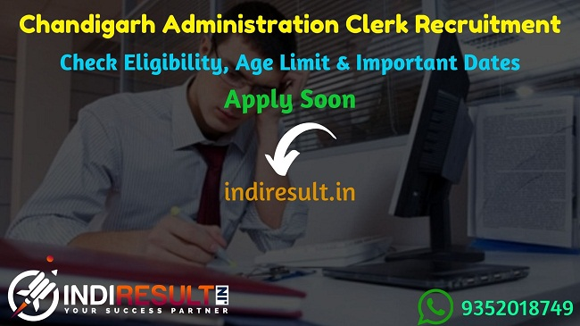 Chandigarh Administration Clerk Recruitment 2019 – Check Chandigarh Administration Clerk Notification, Eligibility Criteria, Age Limit, Educational Qualification and Selection process. The Chandigarh Administration invites online application to fill 477 vacancies of Clerk & Typist Posts.