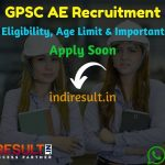 GPSC AE Recruitment 2021 – Apply GPSC 119 Assistant Engineer Vacancy, Notification, Eligibility Criteria, Salary, Age Limit, Qualification, Last Date.