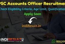 GPSC Accounts Officer Recruitment 2019 GPSC Recruitment 2019 For Accounts Officer – Check GPSC Accounts Officer Eligibility Criteria, Age Limit, Educational Qualification and selection process. GPSC invites online application to fill 40 vacancies to the post of Accounts Officer.