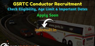 GSRTC Conductor Recruitment 2019 - Check GSRTC Conductor Bharti Notification, Eligibility Criteria, Age Limit, Educational Qualification and selection process. Gujarat State Road Transport Corporation GSRTC invited online application to fill 2389 vacancy of Conductor posts. This is a great opportunity for the applicants who are searching for Govt Jobs in Gujarat.