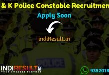 J & K Police Constable Recruitment 2019 - Check Jammu Kashmir Police Constable Notification, Eligibility Criteria, Age Limit, Educational Qualification and Selection process. Police Recruitment Department invites online application to fill J & K 2700 vacancies of Male & Female Constable Posts Posts.