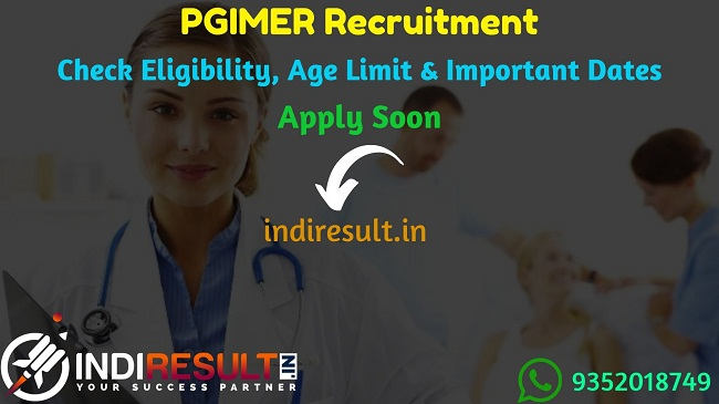 PGIMER Nursing Officer Recruitment 2019 - Check Chandigarh PGIMER Notification, Eligibility Criteria, Age Limit, Educational Qualification and selection process. Chandigarh PGIMER invites online application to fill 84 vacancies of Nursing Officer, DEO, Assistant Dietitian posts.