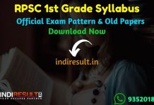 RPSC 1st Grade Syllabus 2019 - Check detailed RPSC 1st Grade Teacher Syllabus and Exam Pattern for written exam. Download RPSC School Lecturer Detailed Syllabus Pdf, Important Books & Old Papers Here. Rajasthan Public Service Commission RPSC has released official RPSC 1st Grade Syllabus & Exam Pattern 2019.