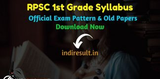RPSC 1st Grade Syllabus2020 -Check detailed RPSC 1st Grade Teacher Syllabus and Exam Pattern for written exam. Download RPSC School Lecturer Detailed Syllabus Pdf, Important Books & Old Papers Here. Rajasthan Public Service Commission RPSC has released official RPSC 1st Grade Syllabus & Exam Pattern 2020.