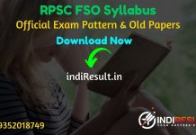 RPSC FSO Syllabus 2020 - Check RPSC Food Safety Officer Official Syllabus and Exam Pattern for written exam. Download Syllabus of RPSC FSO Exam 2020 Pdf,