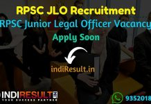 RPSC JLO Recruitment 2019 - Check RPSC Junior Legal Officer Eligibility Criteria, Age Limit, Educational Qualification and selection process. Rajasthan Public Service Commission invites online application to fill 156 vacancies of JLO posts.