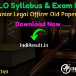 RPSC JLO Syllabus 2020 - Check RPSC Junior Legal Officer Syllabus & Exam Pattern. Download Syllabus of RPSC JLO Exam 2020 Pdf, Important Books, Old Papers.