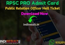 RPSC PRO Admit Card 2019 : rpsc.rajasthan.gov. Check Admit Card for the Post of RPSC Public Relation Officer. As per official notification RPSC PRO Exam Date is 22 October 2019. Applicants who are appearing in the exam may check their RPSC PRO Admit Card Download by entering Application No. & DOB and name wise.