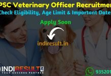 RPSC Veterinary Officer Recruitment 2019 : Check RPSC Veterinary Officer Vacancy Notification, Eligibility Criteria, Exam Date, Educational Qualification & Selection Process. Rajasthan Public Service Commission RPSC invites online application to fill 900 vacancy of Veterinary Officer posts. This is a great opportunity for the applicants who are searching for Govt Jobs in Rajasthan.
