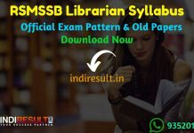 RSMSSB Librarian Syllabus 2019 - Check detailed RSMSSB Librarian Grade III Syllabus and Exam Pattern for written exam. Download RSMSSB Librarian Detailed Syllabus Pdf, Important Books & Old Papers Here. rsmssb.rajasthan.gov.in RSMSSB has released  Librarian Syllabus & Exam Pattern 2019.
