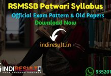 RSMSSB Patwari Syllabus 2020 : Check RSMSSB Rajasthan Patwari New Syllabus 2020 Download pdf in Hindi and RSMSSB Patwari Syllabus & Exam Pattern Official pdf Download .Get RSMSSB Patwari Syllabus and Exam Pattern for written exam. Download RSMSSB Patwari Detailed Syllabus Pdf, Important Books & Old Papers Here. Rajasthan Subordinate and Ministerial Services Selection Board RSMSSB has released official Patwari Syllabus & Exam Pattern 2020.