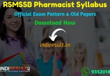 RSMSSB Pharmacist Syllabus 2020- Check detailed RSMSSB Rajasthan Pharmacist Syllabus and Exam Pattern for written exam. Download RSMSSB Pharmacist Detailed Syllabus Pdf, Important Books & Old Papers Here.