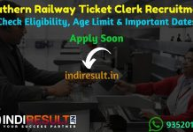 Southern Railway Ticket Clerk Recruitment 2019 - Check RRC South Western Railway Ticket Clerk Vacancy Notification, Eligibility Criteria, Exam Date, Educational Qualification & Selection Process. www.rrchubli.in invites online application to fill 386 vacancies to the post of TC posts.