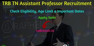 TRB TN Assistant Professor Recruitment 2019 -Check TN TRB Asst Professor Eligibility Criteria, Age Limit, Educational Qualification and selection process. Tamil Nadu Teachers Recruitment Board invites online application to fill 2331 vacancies to the post of Assistant Professor.