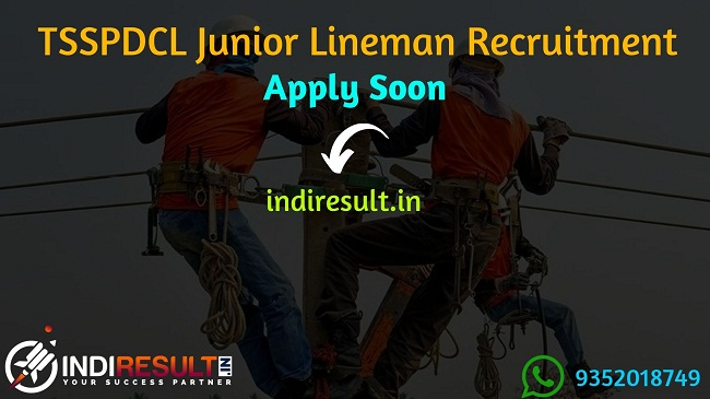 TSSPDCL Junior Lineman Recruitment 2019 -  Check TSSPDCL JLM Eligibility Criteria, Age Limit, Educational Qualification and selection process. Telangana TSSPDCL invites online application to fill 2500 vacancies to the post of Junior Lineman posts. This is a great opportunity for the applicants who are searching for Govt Jobs in Telangana.
