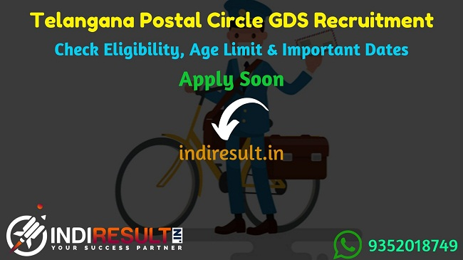 Telangana Postal Circle GDS Recruitment 2019 - Check Telangana GDS Notification, Eligibility Criteria, Age Limit, Educational Qualification and Selection process. Postal Circle Telangana invites online application to fill 970 vacancies of Gramin Dak Sevak Posts.