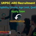 UKPSC ARO Recruitment 2019 – Check UKPSC Assistant Review Officer Eligibility Criteria, Age Limit, Educational Qualification and selection process. Uttrakhand Public Service Commission invites online application to fill ARO, Typist and Other Posts.