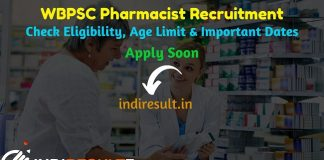 WBPSC Pharmacist Recruitment 2019 - Check WBPSC Pharmacist Notification, Eligibility Criteria, Age Limit, Educational Qualification and Selection process. West Bengal Public Service Commission WBPSC invites Online application to fill 200 vacancy of Pharmacist Grade III Posts. This is a great opportunity for the applicants who are searching for Govt Jobs in West Bengal.