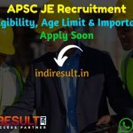 APSC JE Recruitment 2020 - Check Assam PWD APSC Junior Engineer Notification, Eligibility Criteria, Age Limit, Educational Qualification and Selection process. Assam Public Service Commission APSC invites Online application to fill 368 vacancy of JE Posts.