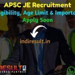 APSC JE Recruitment 2021 - Check Assam APSC Junior Engineer Recruitment Notification, Salary, Eligibility Criteria, Age Limit, Qualification, Online Form.