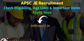 APSC JE Recruitment 2019 - Check Assam PWD APSC Junior Engineer Notification, Eligibility Criteria, Age Limit, Educational Qualification and Selection process. Assam Public Service Commission APSC invites Online application to fill 307 vacancy of JE Civil Posts. This is a great opportunity for the applicants who are searching for Govt Jobs in Assam.