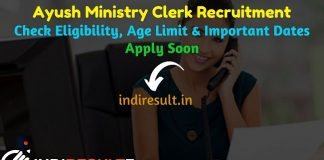 CCRAS LDC UDC Recruitment 2019 – Check Ayush Ministry Recruitment Notification Eligibility Criteria, Age Limit, Educational Qualification and selection process. Central Council for Research in Ayurvedic Sciences CCRAS invited online application to fill 66 vacancy of UDC & LDC Clerk posts. This is a great opportunity for the applicants who are searching for Govt Jobs in India.