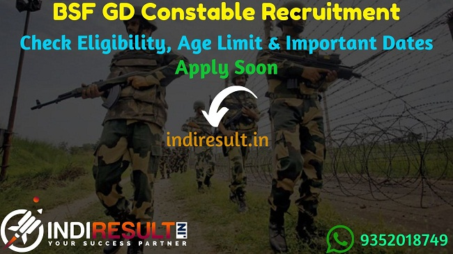 BSF GD Constable Recruitment 2019 – Check BSF Recruitment 2019, Eligibility Criteria, Age Limit, Educational Qualification and Selection process. BSF will invite online application to fill 1356 vacancies of GD Constable Posts. This is a great opportunity for the applicants who are searching for Latest Govt Jobs in Indian Army.