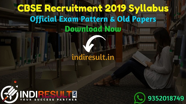 CBSE Recruitment Syllabus - Check detailed CBSE Junior Assistant, Senior Assistant, Accountant Assistant Secretary, Analyst Syllabus & CBSE Junior Assistant Pdf Syllabus and Exam Pattern for Online exam. Download CBSE Recruitment Syllabus Pdf, Important Books & Old Papers Here. Central Board of Secondary Education CBSE has released Junior Assistant Detailed Syllabus & Exam Pattern 2019.