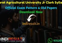 Gujarat Agricultural University Junior Clerk Syllabus 2019 - Check detailed Gujarat Agricultural University GAU Junior Clerk Syllabus and Exam Pattern for written exam. Download GAU Jr Clerk Detailed Syllabus Pdf, Important Books & Old Papers Here. Agricultural Universities Of Gujarat has released Junior Clerk Syllabus & Exam Pattern 2019.