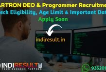 HARTRON DEO & Programmer Recruitment 2019 - Haryana HARTRON DEO & Programmer Notification, Eligibility Criteria, Age Limit, Educational Qualification and selection process. The Haryana State Electronics Development Corporation Limited HARTRON invites online application to fill 120 vacancy of Data Entry Operator & Programmer Posts.