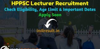 HPPSC Lecturer Recruitment 2019 - Check HPPSC School Lecturer Notification, Eligibility Criteria, Age Limit, Educational Qualification and selection process. Himachal Pradesh Public Service Commission invited online application to fill 396 Lecturer Vacancy posts.