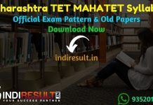 Maharashtra TET MAHATET Syllabus - Check detailed Maharashtra TET MAHATET Official Syllabus & Exam Pattern for written exam. Download Maharashtra MAHATET Syllabus Pdf, Important Books & Old Papers Here.Maharashtra State Council of Examination has released Maharashtra TET Syllabus & Exam Pattern 2019.