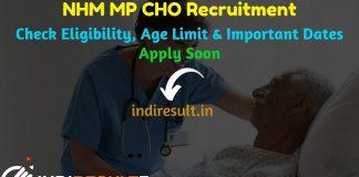NHM MP CHO Recruitment 2021 - NHM MP 3570 CHO Vacancy Notification, MP Community Health Officer Eligibility Criteria,Salary,Age Limit,NHM MP CHO Online Form