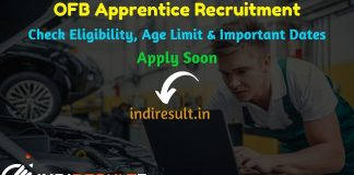 OFB Apprentice Recruitment 2019 - Check OFB Apprentice Notification, Eligibility Criteria, Age Limit, Educational Qualification and Selection process. Ordnance Factory Board invites Online application to fill 4805 vacancy of Apprentice Posts.