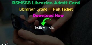 RSMSSB Librarian Admit Card 2020 - Download Admit Card for the post of RSMSSB Librarian Exam 2020. Rajasthan Subordinate and Ministerial Services Selection Board RSMSSB published RSMSSB Librarian Exam Dates. As per official notification RSMSSB Librarian Exam Date is 12 April 2020. Applicants who are appearing in the exam may download their RSMSSB Librarian Admit Card by entering Application No. & DOB and name wise.