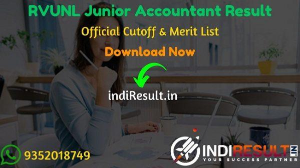 RVUNL Junior Accountant Result 2021 – Download RVUNL Jr Accountant Result, Cut Off & Merit List. Result date of RVUNL Junior Accountant is 10 October 2021.