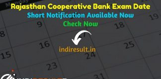 Rajasthan Cooperative Bank Exam Date 2019 - Rajasthan State Cooperative Bank Limited RSCB Rajcrb has released Rajasthan Cooperative Bank Banking Assistant, Manager, Computer Programmer Exam Dates on its official website. As poer notification RSCB Rajasthan Cooperative Bank Exam Date is 16 - 19 December 2019.