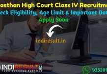 Rajasthan High Court 4th Class Recruitment 2019 - Check Rajasthan High Court Class 4th Vacancy Notification, Eligibility Criteria, Age Limit, Educational Qualification and Selection process. The Rajasthan High Court HCRAJ invited online application to fill 3678 vacancy of Class IV, Driver Peon posts. This is a great opportunity for the applicants who are searching for Latest Govt Jobs in Rajasthan.