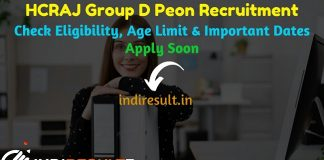 Rajasthan High Court Group D Recruitment 2019 - Check Rajasthan High Court Class Group D Vacancy Notification, Eligibility Criteria, Age Limit, Educational Qualification and Selection process. The Rajasthan High Court HCRAJ invited online application to fill 3678 vacancy of Group D posts. This is a great opportunity for the applicants who are searching for Latest Govt Jobs in Rajasthan.