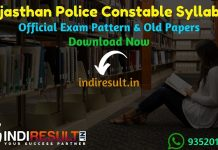Rajasthan Police Constable Syllabus 2020 - Check detailed Rajasthan Police Constable Official Syllabus and Exam Pattern of written exam. Download Rajasthan Police Constable Detailed Syllabus Pdf, Important Books & Old Papers Here. Police Department Rajasthan has released Police Constable Syllabus & Exam Pattern 2020.