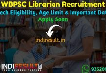 WBPSC Librarian Recruitment 2019 - Check WBPSC Librarian Notification, Eligibility Criteria, Age Limit, Educational Qualification and Selection process. West Bengal Public Service Commission WBPSC invites Online application to fill 26 vacancy of Librarian Posts. This is a great opportunity for the applicants who are searching for Govt Jobs in West Bengal.