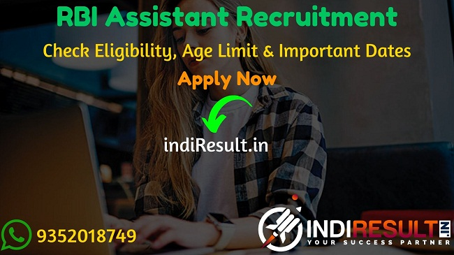 RBI Assistant Recruitment 2020 - Check RBI Assistant Vacancy Notification, Eligibility Criteria, Age Limit, Educational Qualification and Selection process. Reserve Bank of India RBI invites Online application to fill 926 vacancy of Assistant Posts. This is a great opportunity for the applicants who are searching for Govt Jobs in India.