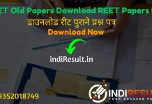 REET Previous Year Paper - Download RBSE REET Old question papers & REET Test Paper, Model Paper, Solved Paper & REET Paper Book PDF with Solution.