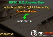 RPSC JLO Answer Key 2020 - The RPSC Answer Key pdf of Junior Legal Officer exam is published on rpsc website. Download RPSC JLO exam answer key here.